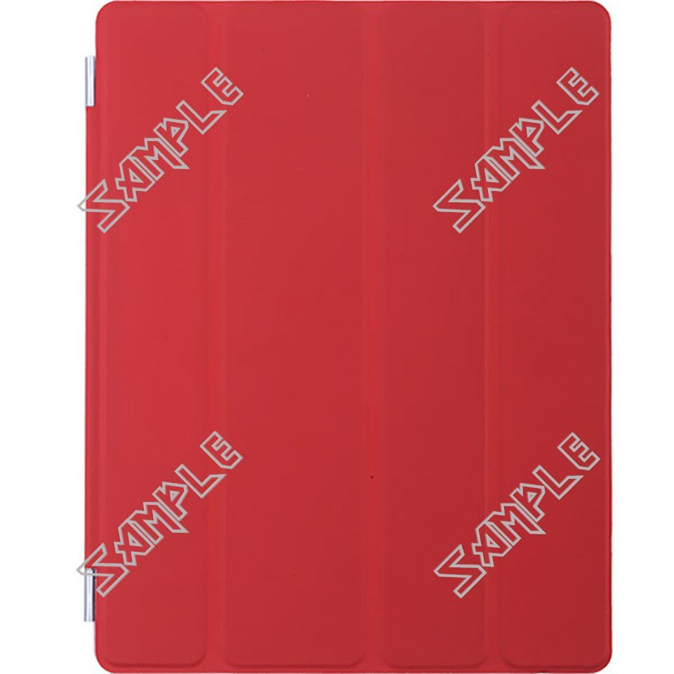 Red Protective Wake-Up/ Sleep Smart Cover Case Shell for Apple iPad 2/3/4 - One Side