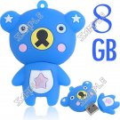 Cute Bear Shaped USB 2.0 Jump Flash Memory Drive U Disk Stick - 8GB