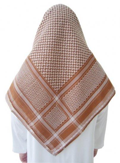 Red Sand / White Shemagh / Kufiya / Kafiya / Arab Scarf