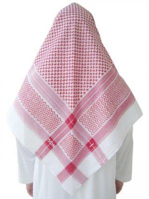 Red Saudi Renaih Shemagh / Kufiya / Kafiya / Arab Scarf