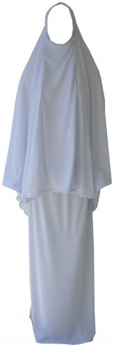 White Hijab & Skirt / Prayer Outfit / Abaya