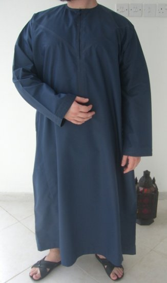 Dark Blue Emirates Gandoura / Dishdash / Thob / Kameez