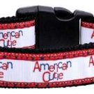 NEW American Cutie Country Pride Size Med Dog Collar