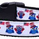 NEW USA Owls Country Pride Size Med Dog Collar