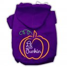 LIL PUNKIN Pet Rhinestone Hoodie Sizes Xsmall - Large Pet Outerwear For Cats and Dogs
