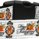 NEW HAPPY THANKSGIVING SIZE MEDIUM Dog Collar Soft Nylon