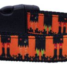 NEW SCARY WITCHES Size Large Dog Collar Halloween Soft Nylon