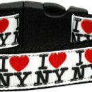 NEW I LOVE NEW YORK Size LG Dog Collar