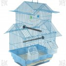 "SALE MULTI BIRD HOUSE KIT 18"" H x 11.25 W FOR PARAKEET FINCHES BLUE"