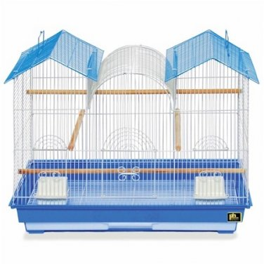 """NEW Large Bird Cage Kit 22.5"""" H x 26"""" W Blue and White"""