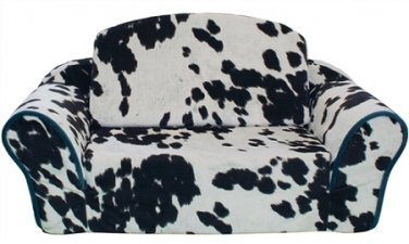 Pull Out Pet Sleeper Dog Bed Couch Cow Print