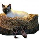 Pet Travel Carrier, Bed & Car Seat Snuggle Bugs Brown Cheetah PETFLYS