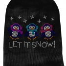 Dog Sweater LET IT SNOW Black SIZE XLarge - Fits 20 to 26 lb Pet