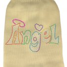 Dog Sweater ANGEL Cream with Colorful Rhinestones SIZE SMALL