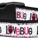 Dog Collar LOVE BUG SIZE MEDIUM Soft Nylon