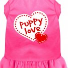 Dog Dress PUPPY LOVE in Pink SIZE XSMALL