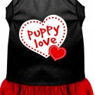 Dog Dress PUPPY LOVE in Black & Red SIZE XXLARGE