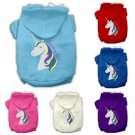 """Unicorns Rock"" Size LARGE(14) Pet Hoodie - Cream, Pink, Royal blue, Baby blue, Purple, Red"