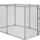 QUICK SET-UP-YOURSELF CHAIN LINK BOXED DOG KENNEL OUTDOOR CAGE