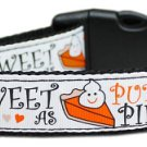 NEW SWeeT As PumPkIn PiE Size XSmall & Small Thanksgiving Holiday Fall Soft Dog Collar