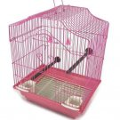 """Easy And Complete Bird Cage Kit 14.5"""" H x 11.5"""" W - Small Birds Pink"""