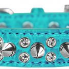 NEW Sparkle and Spikes Size XSmall & Small Faux Leather Croc Dog Collars