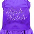 RICH BITCH Pet Dress Rhinestones & Ruffles in Sizes XSMALL to XLarge For Cats and Dogs