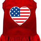 AMERICAN FLAG HEART Pet Dress Sizes 2X to 4X Solid Colors For Cats and Dogs