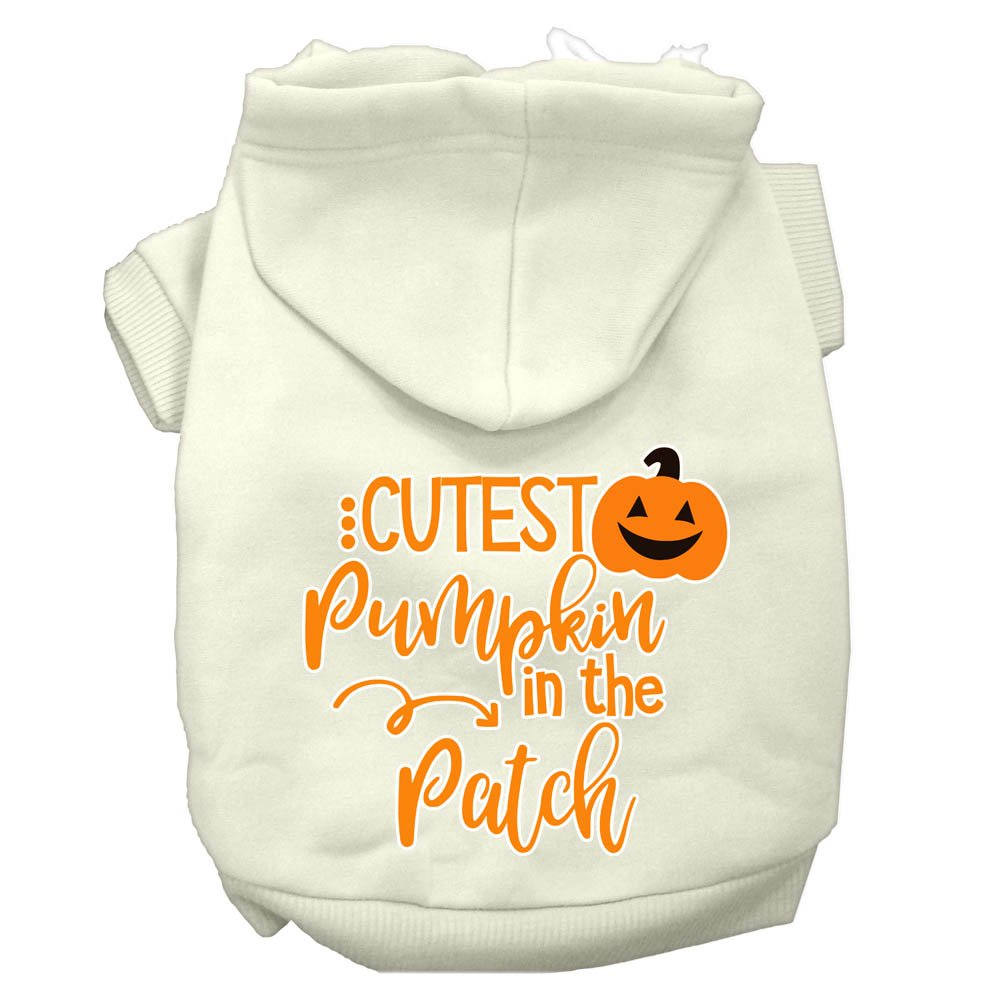 CUTEST PUMPKIN IN THE PATCH Pet Hoodie Sizes XLarge - XXXLarge Pet Outerwear For Cats and Dogs