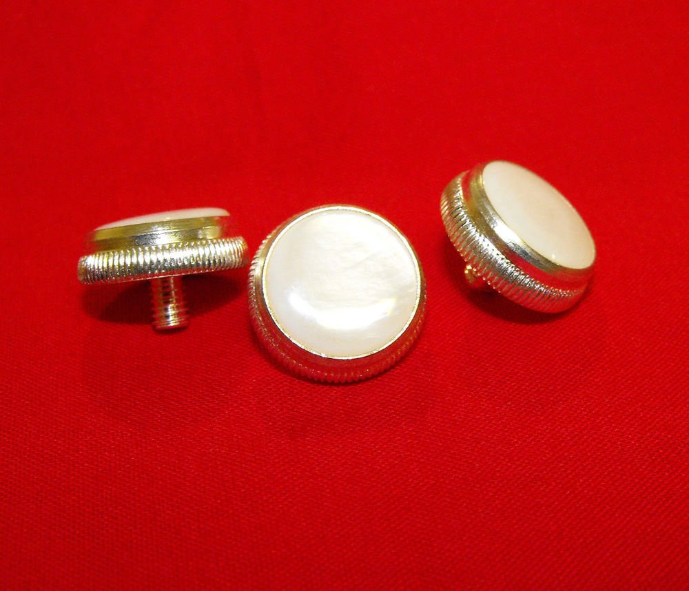 3 Bach Prelude TR710S TR711S  Silver Plated Trumpet Finger Buttons