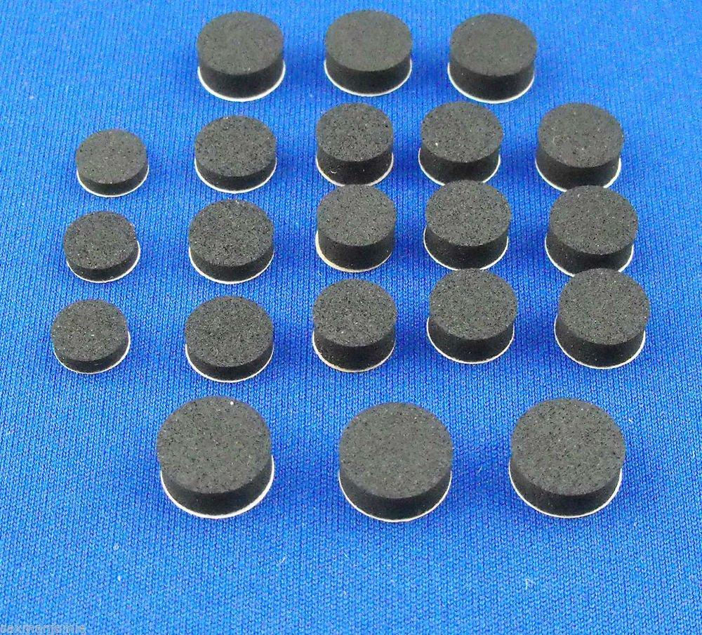 Brass Instrument Rubber Waterkey Cork Disk 21 pc. self adhesive assortment