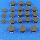 Brass Instrument Rubber Waterkey Cork Disk 21 pc. self adhesive assortment