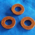Genuine Brown Yamaha Trumpet, Cornet  Valve Top Cap Felts washers old style
