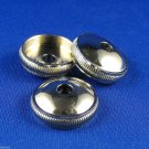 3 Bottom Valve Caps Bach Prelude TR710 TR711 Trumpet Genuine Nickel Plated Part