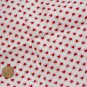 Vintage Cotton Fabric Tiny RED HEARTS WHITE BISQUE BLEUETTE Dolls Bears Quilt