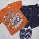 Boy Shirt Shorts Shoes CARTERS BABY BIZ Newborn 0-3 months Outfit Spring Summer