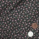 VTG Cotton Fabric Tiny Print Calico Floral Bisque FRENCH FASHION BLEUETTE Hitty