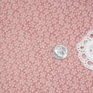 Vtg Cotton Fabric Pink Mauve Tiny Floral Print Dolls Bisque Hitty Bears Unused