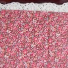 Vtg Cotton Fabric Small Floral Print Mauve Blue Red Bisque China Bleuette Dolls