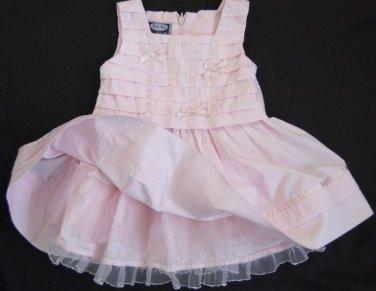Girls Pink Dress KOALA KIDS 0-3 months 100% Cotton Spring Summer Satin Ribbon