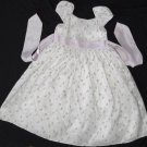 Girls Sz 5 Dress Knee-Length Embroidered WHITE Dressy Floral Pink Holiday