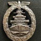 Nice High Seas Fleet War Badge in fine zinc