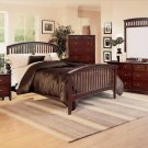 NEW 5pc Queen All Wood Contemporary Bedroom Set C-B7550