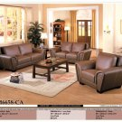 NEW 3PCS CONTEMPORARY LEATHER SOFA SET ITEM #CM6658-CA