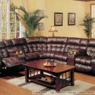 3PC LEATHER SECTIONAL RECLINER MOTION SOFA, #BQ-6574