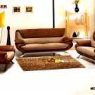 3PCS  NEW CONTEMPORARY MICRO FIBER SOFA  SET #E7040MF