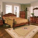 NEW 5pc Queen All Wood Traditional Bedroom Set C-B5950