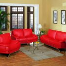 NEW 3PCS CONTEMPORARY LEATHER SOFA SET, ITEM#C-S2025