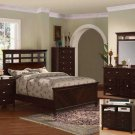 NEW 5pc Queen All Wood Contemporary Bedroom Set C-B4850