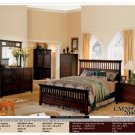 NEW 5pc Queen All Wood Contemporary Bedroom Set #CM7097